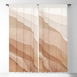 Mountains and hills Blackout Curtain