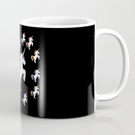 Parade of Multicolor Unicorns Coffee Mug