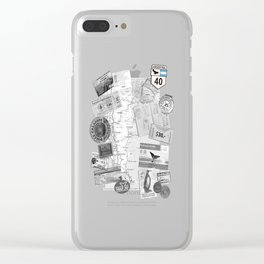 Patagonia - Map Clear iPhone Case