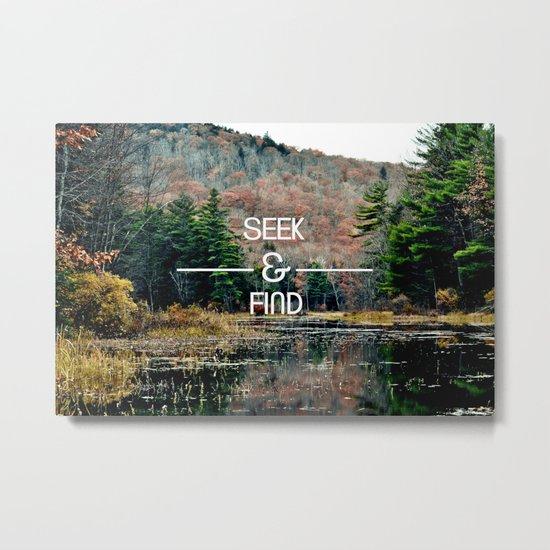 Seek & Find  Metal Print