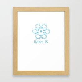 ReactJS vintage style Framed Art Print