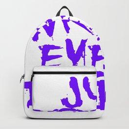 Just Wreck Everything Violet Blue Grunge Graffiti Backpack