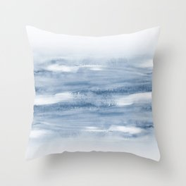 Watercolour Abstract Clouds Throw Pillow