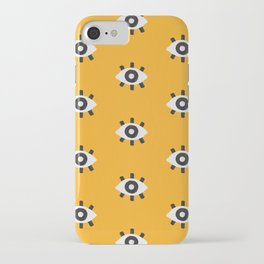 Evil Eye Dots – Marigold Palette iPhone Case