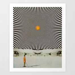 Solar butterfly Art Print
