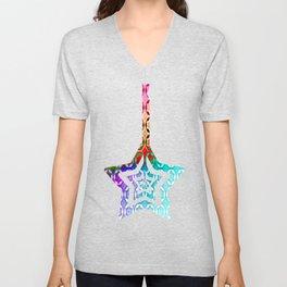 Bolt Stars (Bright) Unisex V-Neck