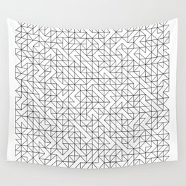 BW TRIANGLE PATTERN Wall Tapestry