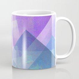 Beautiful Blue and Purple - Digital Geometric Texture Coffee Mug