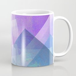 Beautiful Blue and Purple - Digital Geometric Texture Coffee Mug