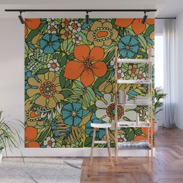 70s Plate Wall Mural