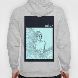 waves of Venus in blue Hoody