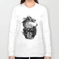 dragon Long Sleeve T-shirts featuring Dragon by Jonathan Keuchkarian