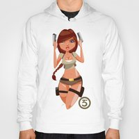 lara croft Hoodies featuring Lara by Pweety Sexxay