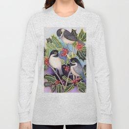 Christmas Chickadees Long Sleeve T-shirt
