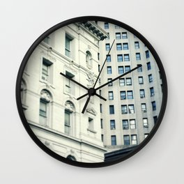 NYC Downtown Buildings, New York City Photography Wall Clock