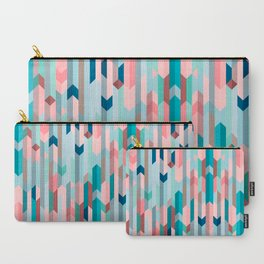 Blue & Pink Chevron Pattern Carry-All Pouch