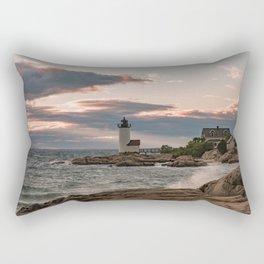 Annisquam Lighthouse sunset Rectangular Pillow