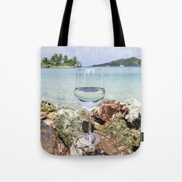 Wine View in Paradise Tote Bag