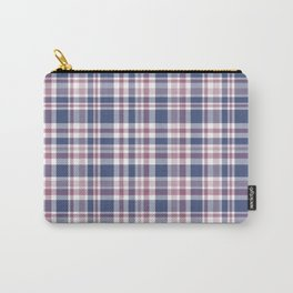 The checkered pattern . Scottish . Blue, red ,white . Carry-All Pouch