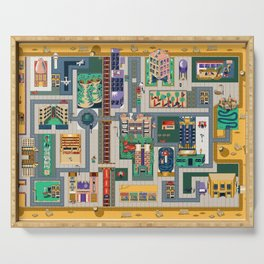 Map of life Serving Tray