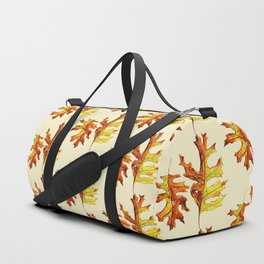 Ink And Watercolor Painted Dancing Autumn Leaves Duffle Bag
