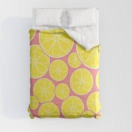 Pink Lemonade Citrus Lemon Slices Comforters