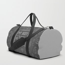 My Tattoos Are My Story Quote Duffle Bag