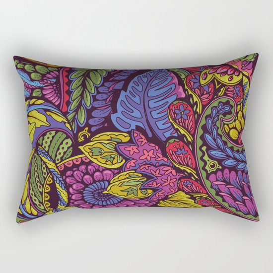 Paisley Dreams - autumn colors Rectangular Pillow