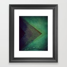 Muted Pyramids Framed Art Print