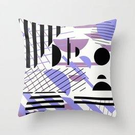 Shape Central - Geometric Abstract Pattern Throw Pillow