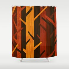 Retro Fall Woods by Friztin Shower Curtain