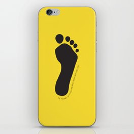 Footprint iPhone Skin