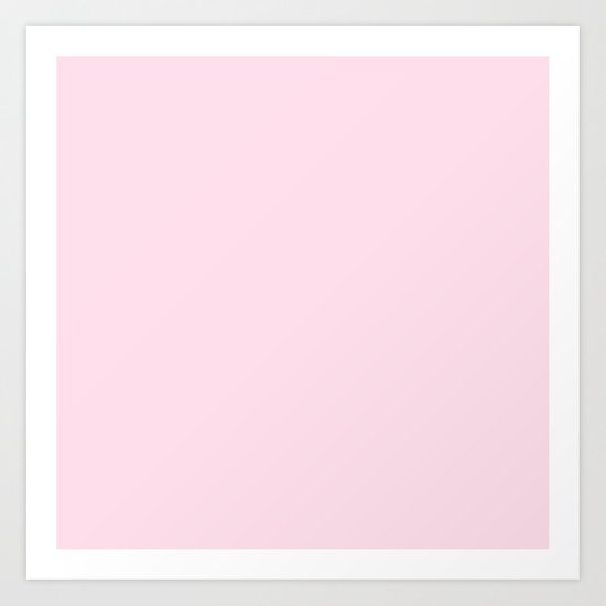 Simply pink color - Mix and Match with Simplicity of Life Art Print