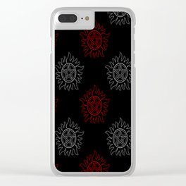 Anti Possession Pattern Dual Glow Clear iPhone Case