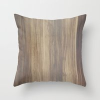 wood Throw Pillows featuring Wood  by Words N Quotes