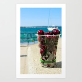 National Cherry Festival - Traverse City, Michigan - Local Sweet Cherries In A Cup Art Print