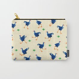 Pukeko swamp hen pattern Carry-All Pouch