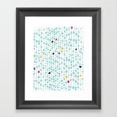 DOTS & LOOPS Framed Art Print