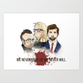 The Lone Gunmen Art Print