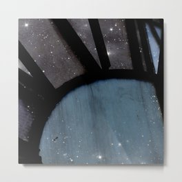 Starry Night - Clock Tower Metal Print