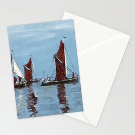Thames barges Stationery Cards