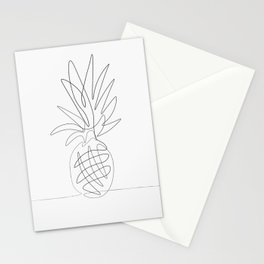 One Line Pineapple Stationery Cards