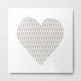 Penis at heart Metal Print