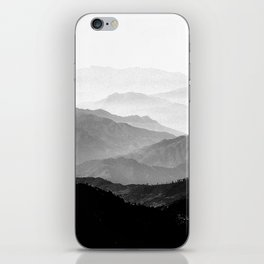 Mountain Mist - Black and White Collection iPhone Skin