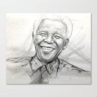 mandela Canvas Prints featuring Mandela by Tamara Patrick