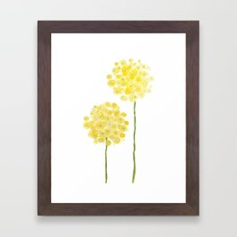 two abstract dandelions watercolor Framed Art Print