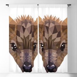 Baby deer in color blocking Blackout Curtain