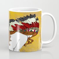 indie Mugs featuring Red Indie-an by Mindphunk