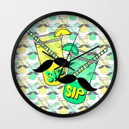 Sip Sip Wall Clock