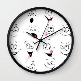 Cartoon faces Wall Clock
